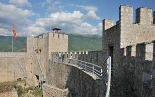 Samuels Festung auf dem Felssporn von Ohrid
