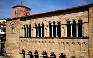 Die Sophienkirche (Crkva Sveta Sofija) im Zentrum von Ohrid