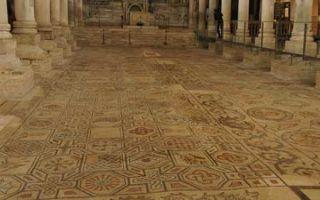 Aquileia - Bodenmosaik in der Kathedrale