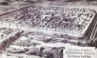 Wels - Reste der römischen Stadtmauer Schubertstraße