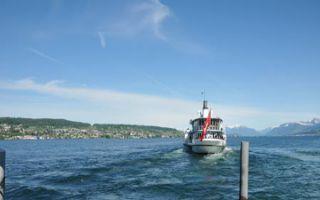 Der Raddampfer - Rapperswill auf dem Zürichsee