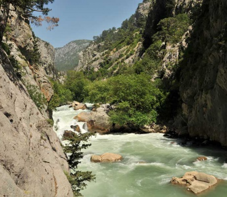 The Manavgat River - in ancient times called Melas
