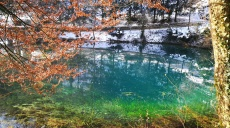 Der Blautopf bei Blaubeuren - auch im Winter besuchenswert