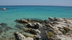 Beautiful bathing coves next to Sarti on Sithonia