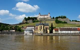 Main Nehri ve Würzburg Kenti