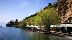 A special highlight in Ohrid - the wooden waterfront