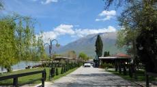 Quellzufluss in den Ohrid See beim Kloster Sveti Naum