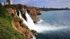 Düden waterfall on the cliffs of Antalya