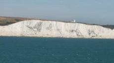White Cliffs of Dover - The chalk cliffs in front