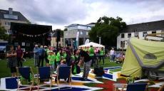Deutschland Tour und Flying Grass Carpet in Trier zu Gast