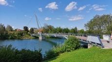 Wels - A walk along the Traun river