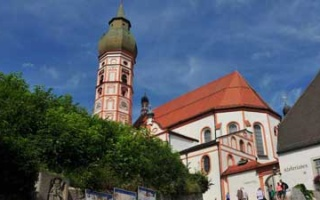 The monastery Church Andechs on top of monastery mountain