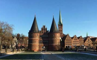 City Gate Holstentor of once powerful Hanseatic city of Lübeck