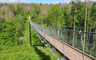 Suspension bridge - hiking destination on Hohe Schrecke