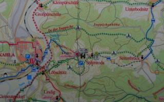 Hiking from Kahla up to the Leuchtenburg passing Seitenroda