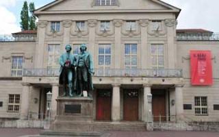 Weimar – a walk using lovely alley of pedestrian zone
