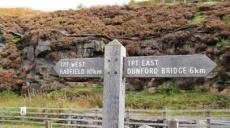 On the Longdendale Trail along the Shelf Moor Bleaklow