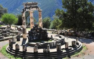 Delphi - the sanctuary of Athena Pronaia