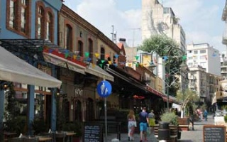 Street restaurants and bars in the Ladadika district