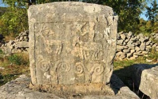 Tomb stones - Stecci at the wayside of Imotski