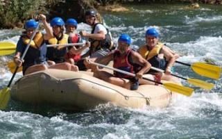 Rafting adventure on the river Cetina close to Radmanove Mlinice