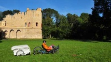 Recumbent trike designed by AZUB - test drives in the Lednice