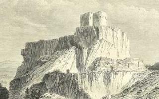 Lampron Castle close to Çamlıyayla - Yilan Kalesi nearby